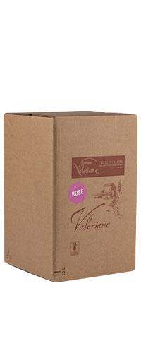Domaine de la Valériane. Côtes du Rhône Rosé. Sa robe est d'un rose vif et cristallin. Nez frais et intense développant des arômes de fruits rouges et des notes florales. En bouche, équilibré et chaleureux, il possède une très belle persistance aromatique.