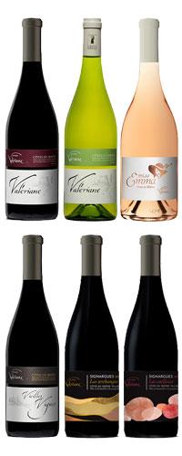 Domaine de la valériane, carton découverte 6 bouteilles.
